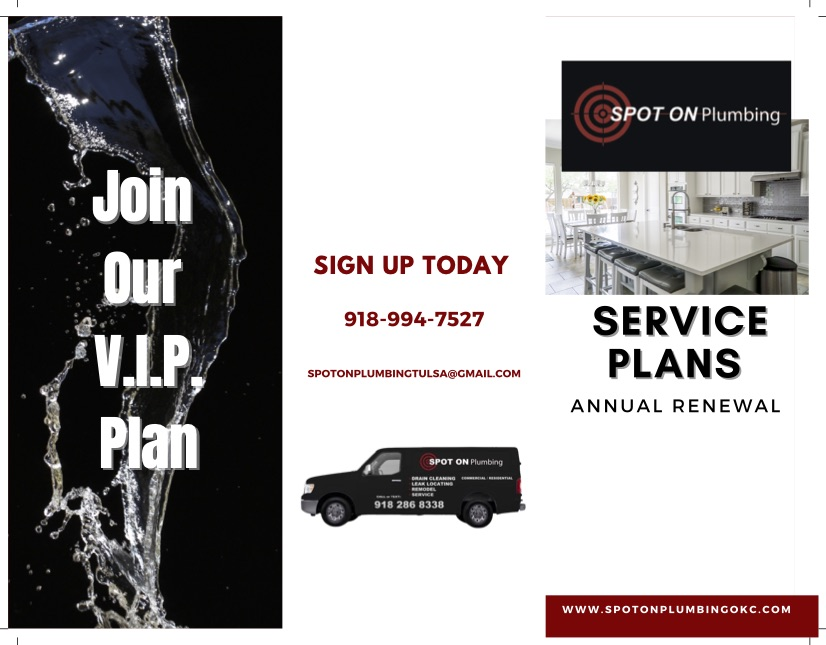 Spot On Plumbing Service Plans Front